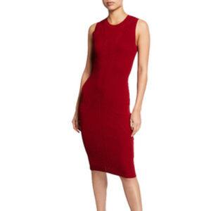 Rachel Rachel Roy ruby red ribbed knit dress NWT